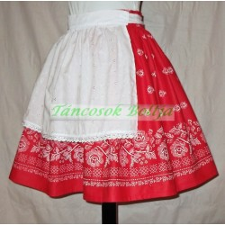 Border-print skirt with apron