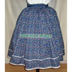 Cotton folk costume skirts with lace