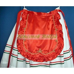 Hungarian apron decorated with cord